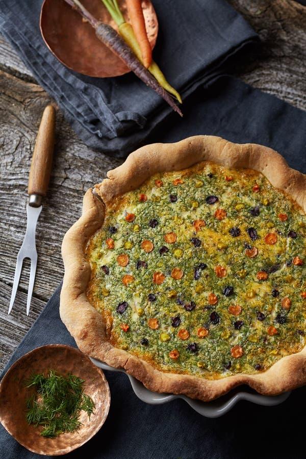 Tarta vegetal hecha en casa fotografía de archivo libre de regalías