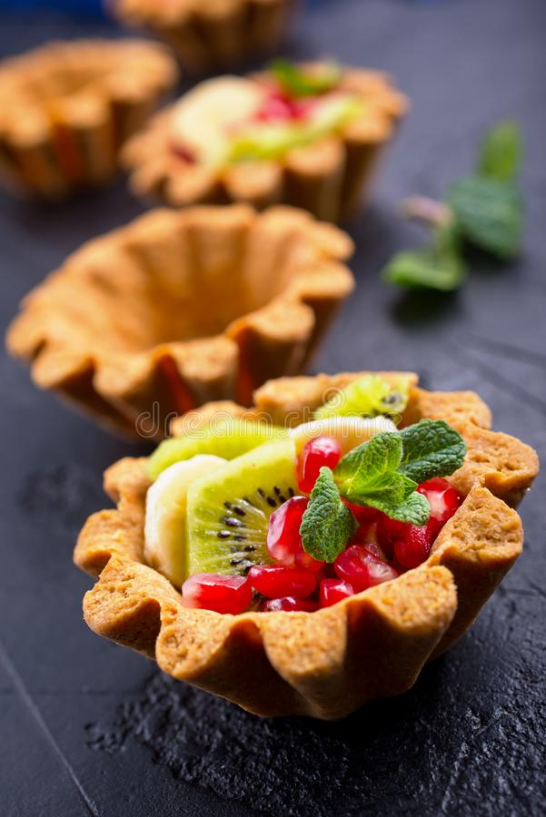 Tartalets with berries stock images