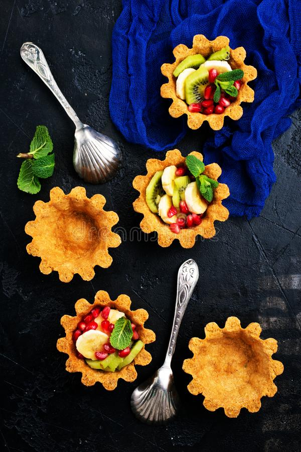 Tartalets with berries stock photo
