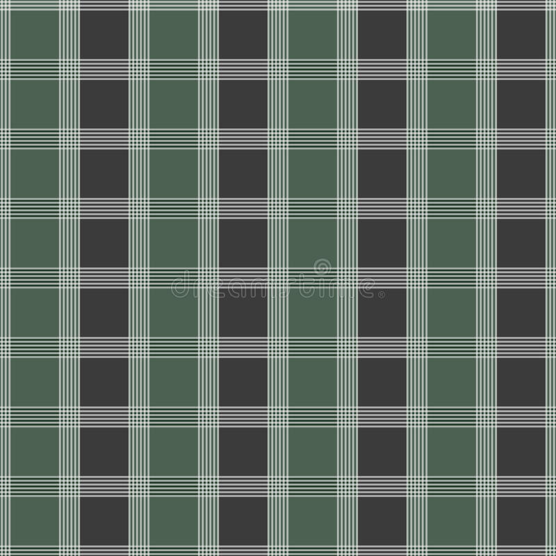 tartan картины безшовный Зеленая и серая текстура ткани килта бесплатная иллюстрация