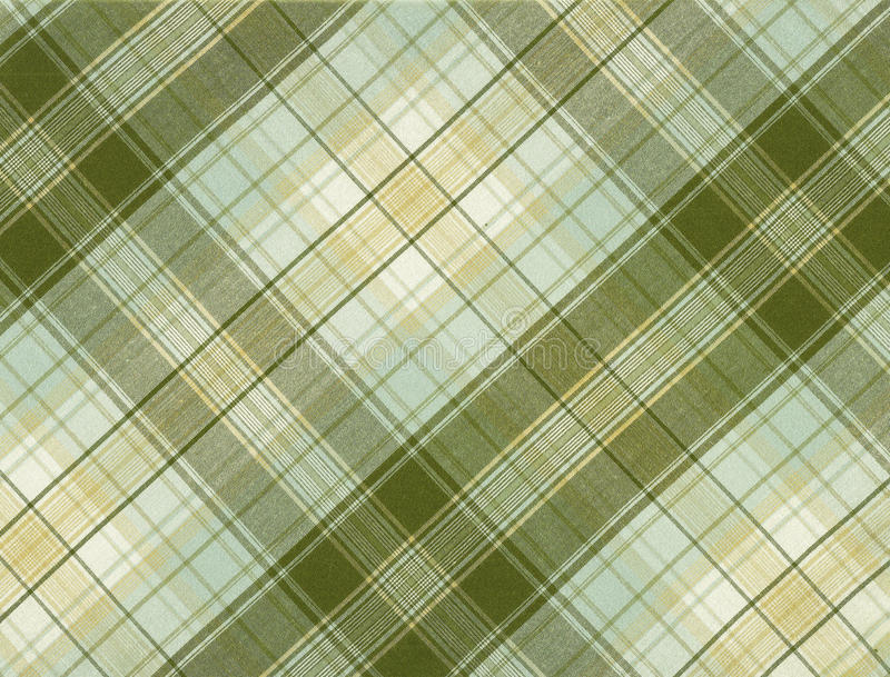 Tartan. Scan of a beige and brown tartan for background stock image