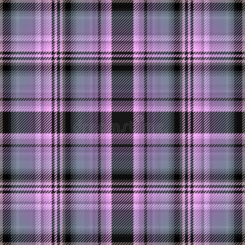 Tartan background and plaid scottish fabric, irish kilt stock illustration