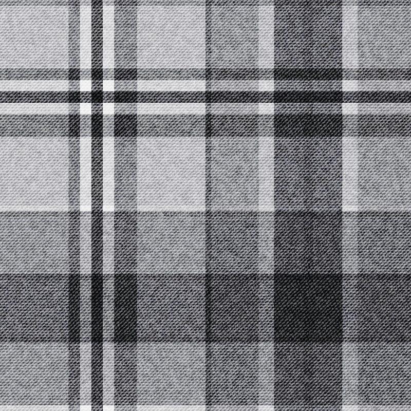 Tartan, checkered seamless fabric background vector illustration