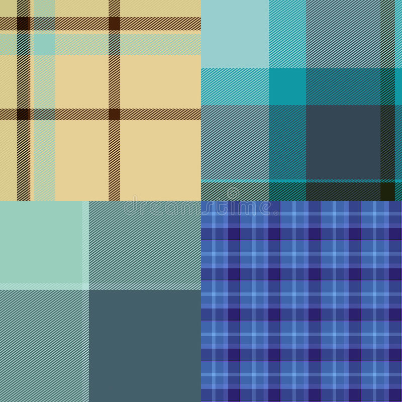 Download Tartan Cloth Collection Of Seamless Patterns Stock Image - Image: 19852751