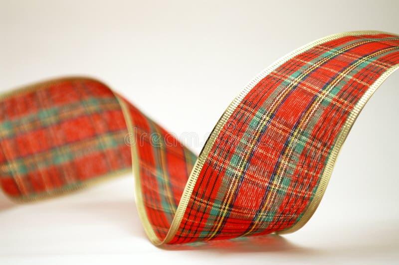 tartan för julöglasband royaltyfria foton