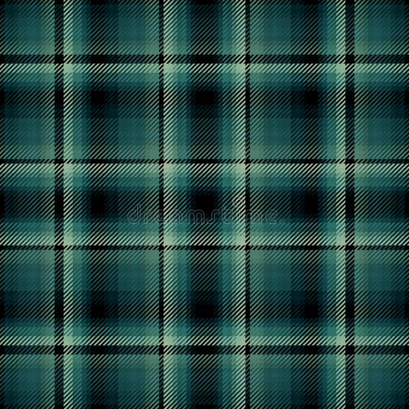 Green Irish Tartan Fabric stock vector  Illustration of