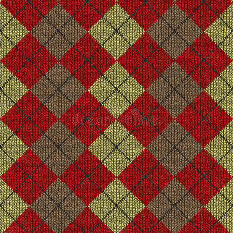 Download Tartan knitwork pattern stock illustration. Illustration of classic - 10570845
