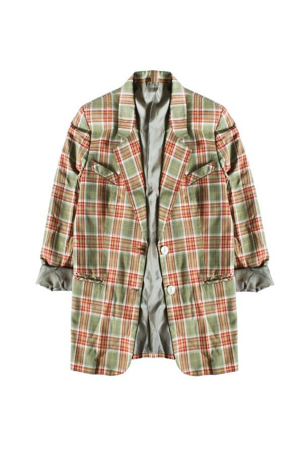 Tartan kurtka odizolowywająca fotografia stock