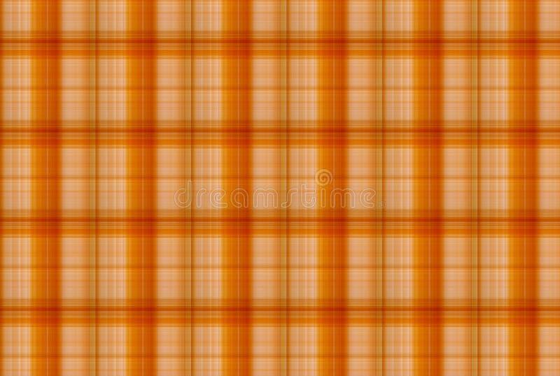 Tartan Orange pattern - Plaid Clothing Table stock image