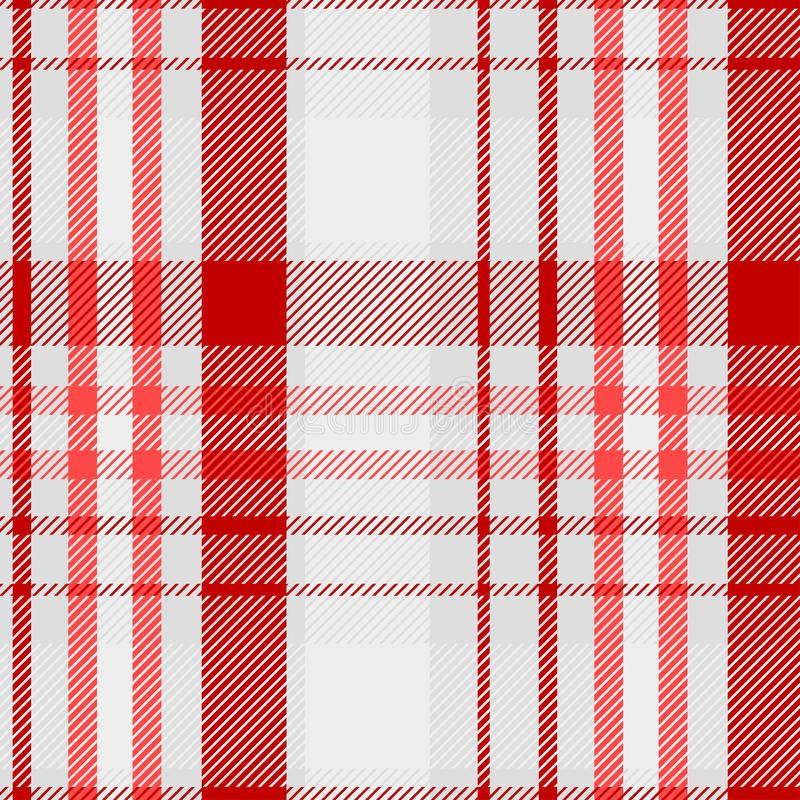 Tartan Pattern in Red and White . Texture for plaid, tablecloths, clothes, shirts, dresses, paper, bedding, blankets, quilts and. Other textile products. Vector stock images