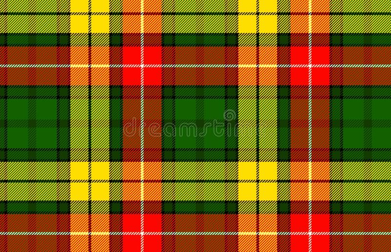 Tartan pattern, Scottish traditional fabric. Illustration design. Plaid, gingham, colors, orange, green, abstract, wallpaper, backdrop, graphic, cotton stock illustration