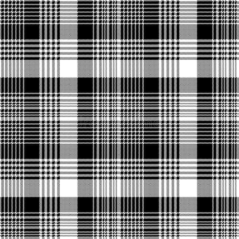 Tartan plaid black white fabric texture seamless pattern. Vector illustration vector illustration