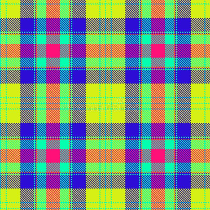 Tartan, plaid pattern. Lime punch color. Textured seamless tartan pattern background plaid. Summer style, bright colors, scottish ornament. Flat style design vector illustration