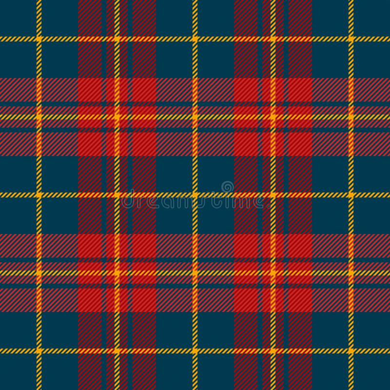 Tartan plaid. Pattern Scottish cage. Tartan plaid. Scottish pattern in blue and red cage. Scottish cage. Traditional Scottish checkered background. Seamless royalty free illustration