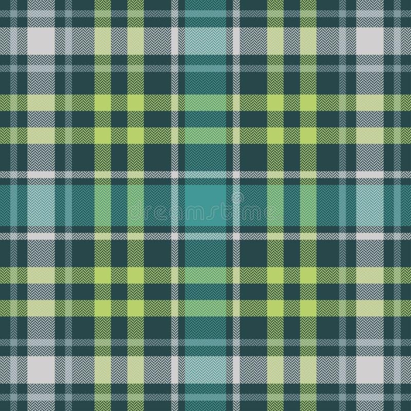 Tartan plaid pattern seamless. Herringbone woven texture. Check for flannel shirt, blanket, throw, or other modern textile design. Vector illustrator EPS 10 royalty free illustration