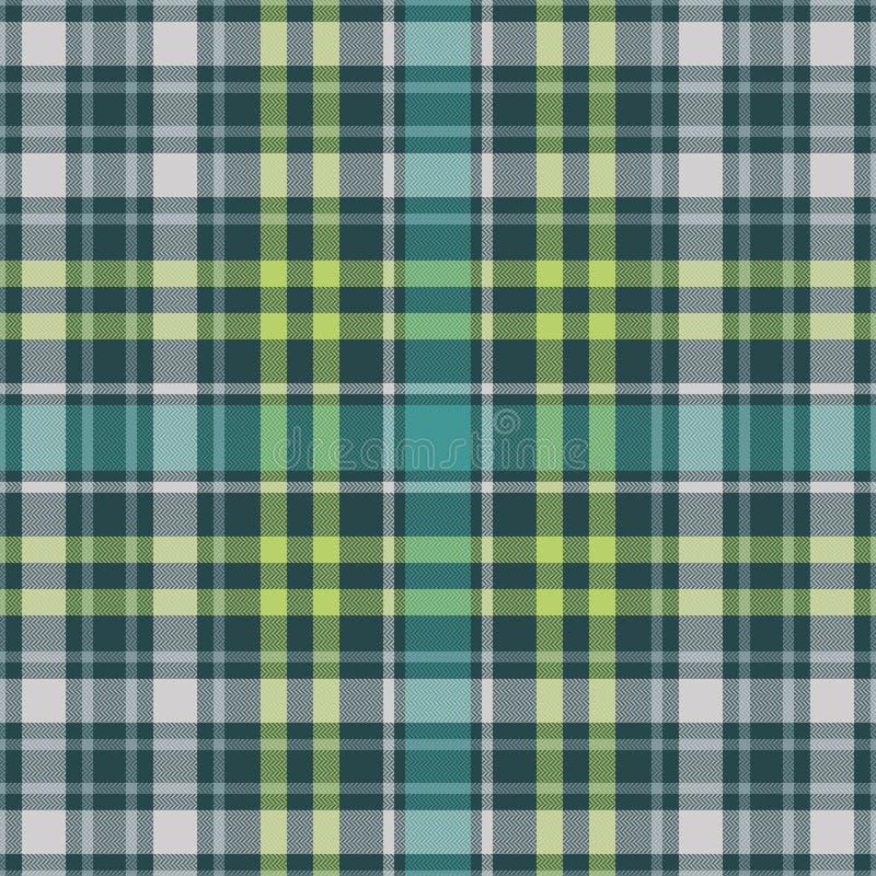 Tartan plaid pattern seamless. Herringbone woven texture. Check for flannel shirt, blanket, throw, or other modern textile design. Vector illustrator EPS 10 stock illustration