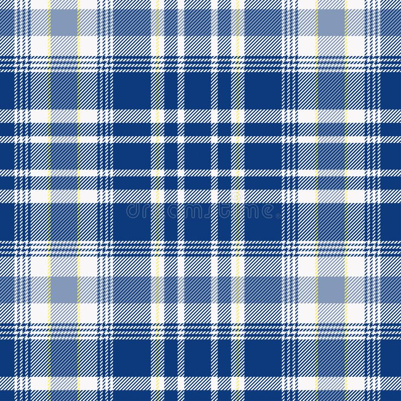 Tartan, plaid pattern seamless vector illustration. Checkered texture for clothing fabric prints, web design, home textile stock illustration
