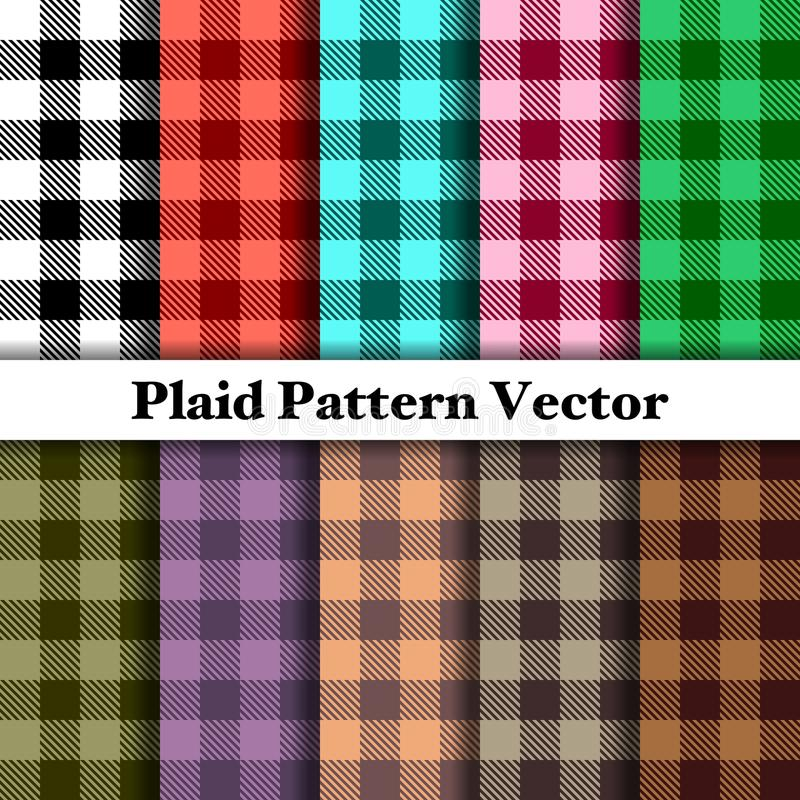 Tartan Plaid Pattern Vector royalty free stock image