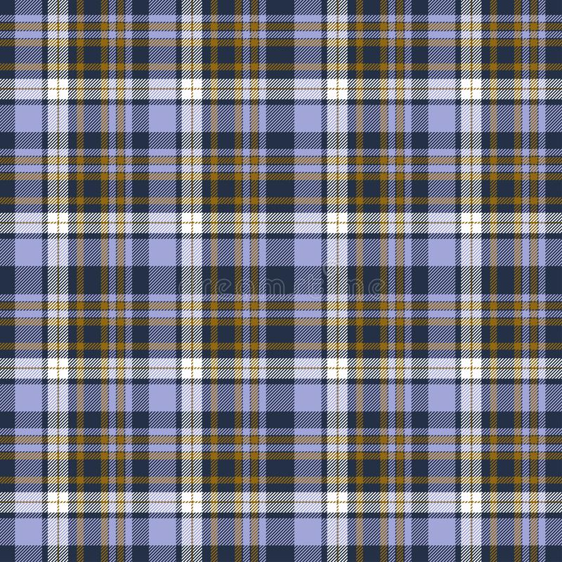 Tartan plaid purple and yellow seamless checkered vector pattern. Vector EPS 10 stock photos