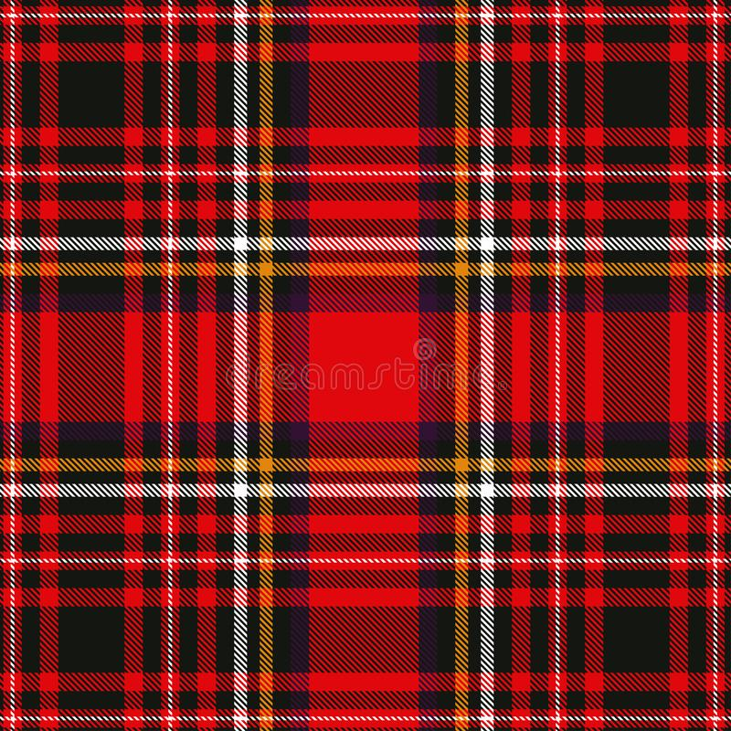 Tartan plaid red and black seamless checkered vector pattern. Vector EPS 10 royalty free stock photography