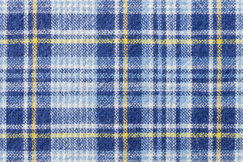 Tartan or Plaid or Scott Fabric Texture Pattern Background. Blue and yellow tartan or plaid background for fashion design. Tartan or plaid pattern. Tartan or stock image