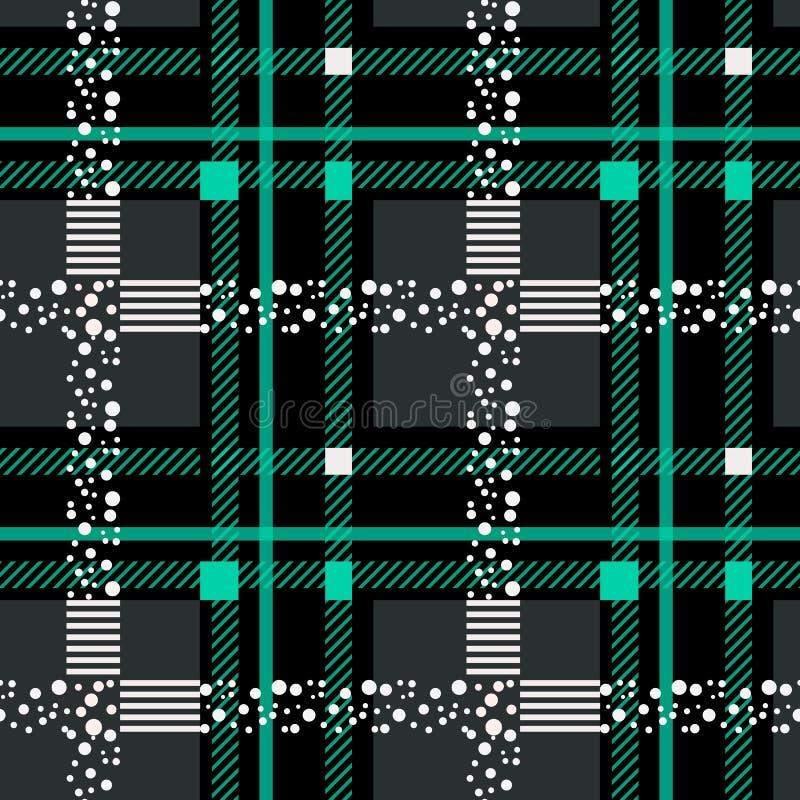 Tartan Plaid Scottish Seamless Pattern Background. Black and blue color wrap. Flannel shirt patterns. Trendy tiles vector. Illustration for wallpapers.EPS 10 vector illustration