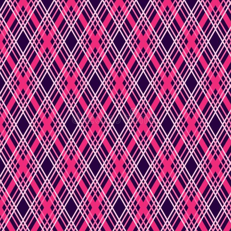 Tartan plaid seamless geometrical pattern. May be useful for print, fabric, tapestry, craftsmanship, scrap-booking etc. Vector illustration royalty free illustration
