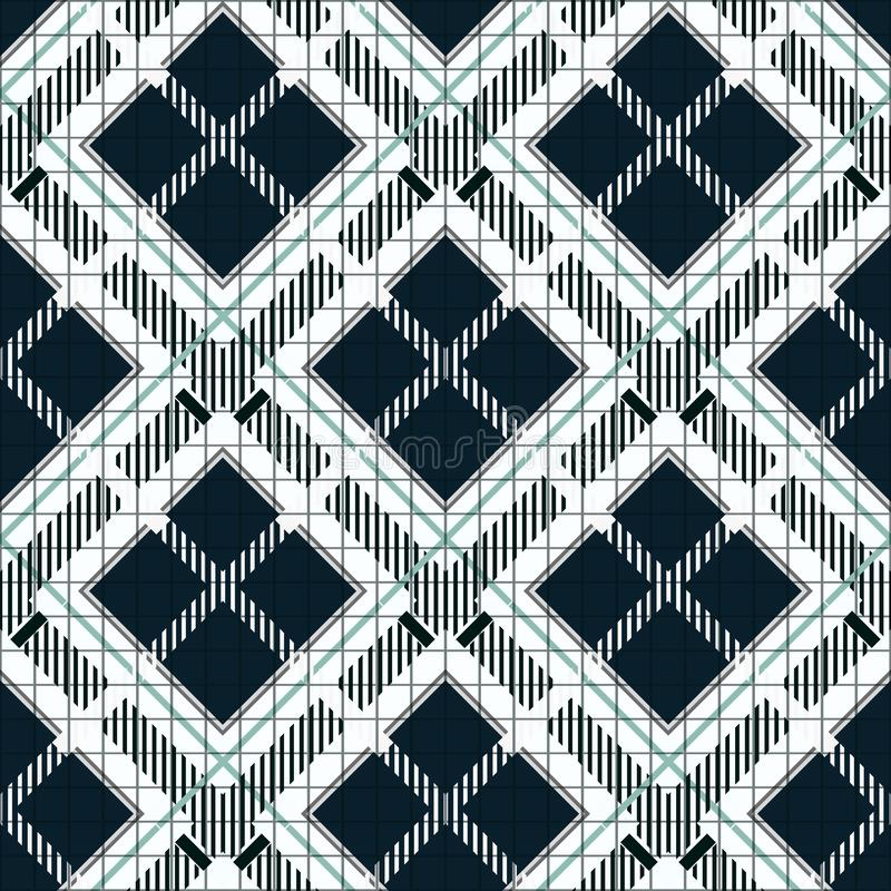 Tartan Plaid Seamless Pattern. Black and white fabric texture check tartan seamless pattern. Vector illustration. eps10 vector illustration