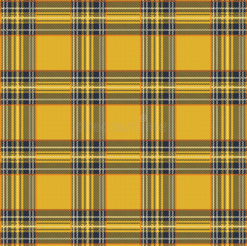 Tartan Plaid Vector Pattern Background with Fabric Texture stock illustration