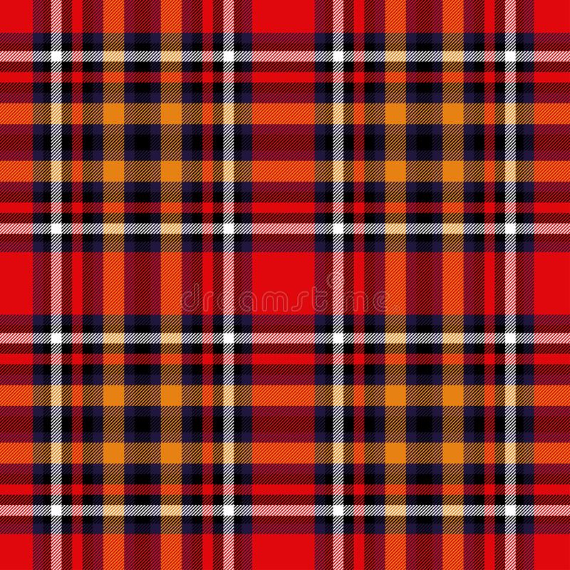 Tartan red and yellow seamless checkered vector pattern. Vector EPS 10 royalty free stock photos