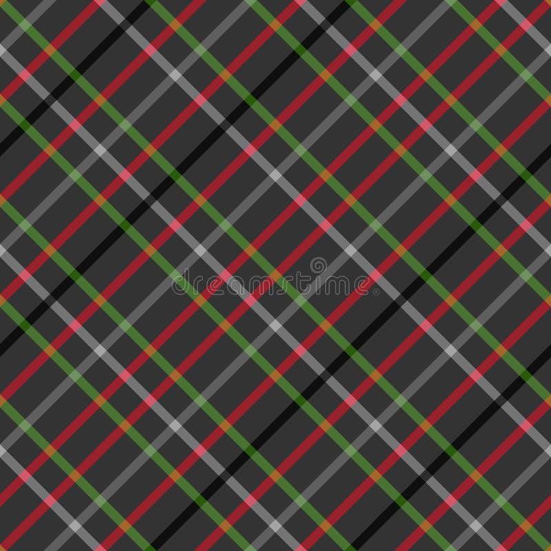 tartan Reticolo diagonale checkered senza giunte royalty illustrazione gratis