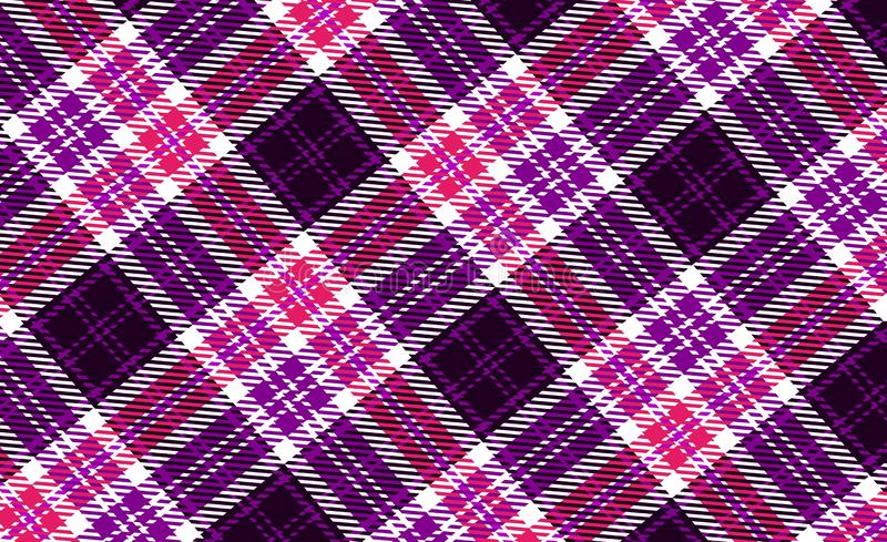 Tartan seamless pattern background. Design, strip, fabric, plaid, flannel, dress, shirt, skirt, pink, purple, violet, blanket, new, print, abstract, graphic royalty free stock image
