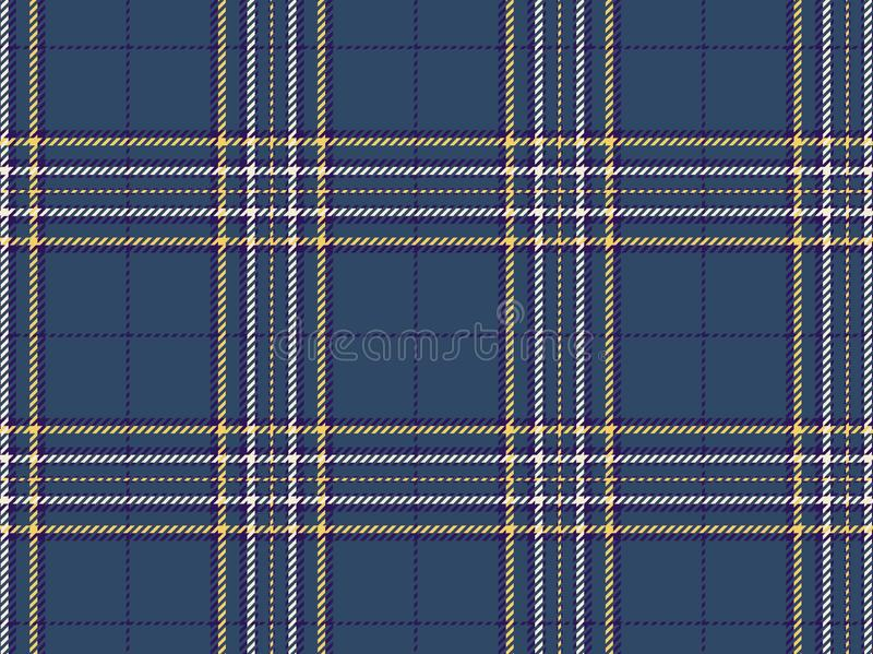 Tartan seamless pattern background. Illustration design. Fabric, fashion, plaid, texture, line, cross, blue, wrapped, repeat, concept, wallpaper, backdrop royalty free stock image