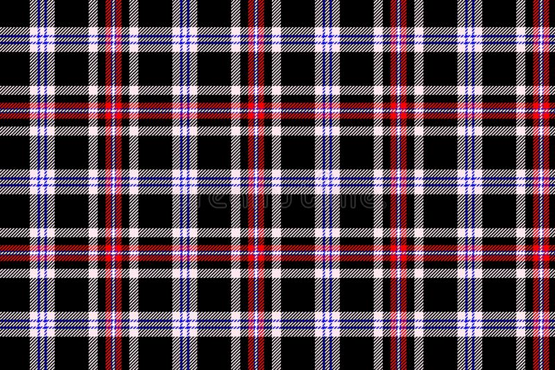 Tartan seamless pattern background. Illustration design. Scottish, british, flannel, striped, line, cross, black, gingham, repeat, abstract, wrapping, concept stock image