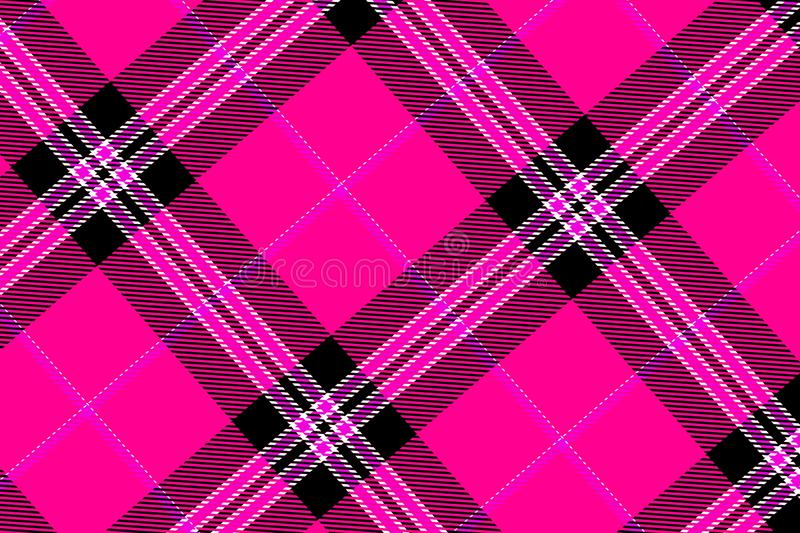 Tartan seamless pattern background. Pink plaid gingham scotland scottish design graphic line cross creative concept template fabric kilt stock images