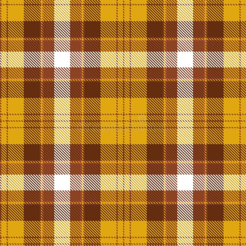 Tartan seamless pattern. Brown, orange and white plaid. Tartan flannel background. royalty free illustration