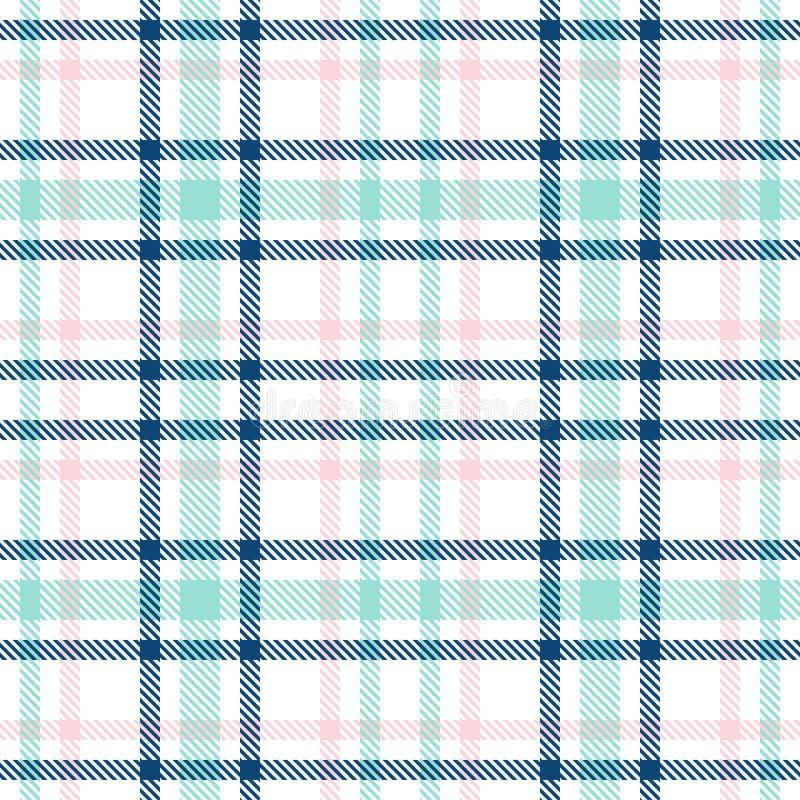 Tartan szkockiej kraty bezszwowy wektorowy wzór W kratk? szkockiej kraty tekstura Geometrical prosty kwadratowy tło dla dziewczyn ilustracji