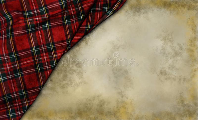 Tartan. Textile on grunge background stock photography