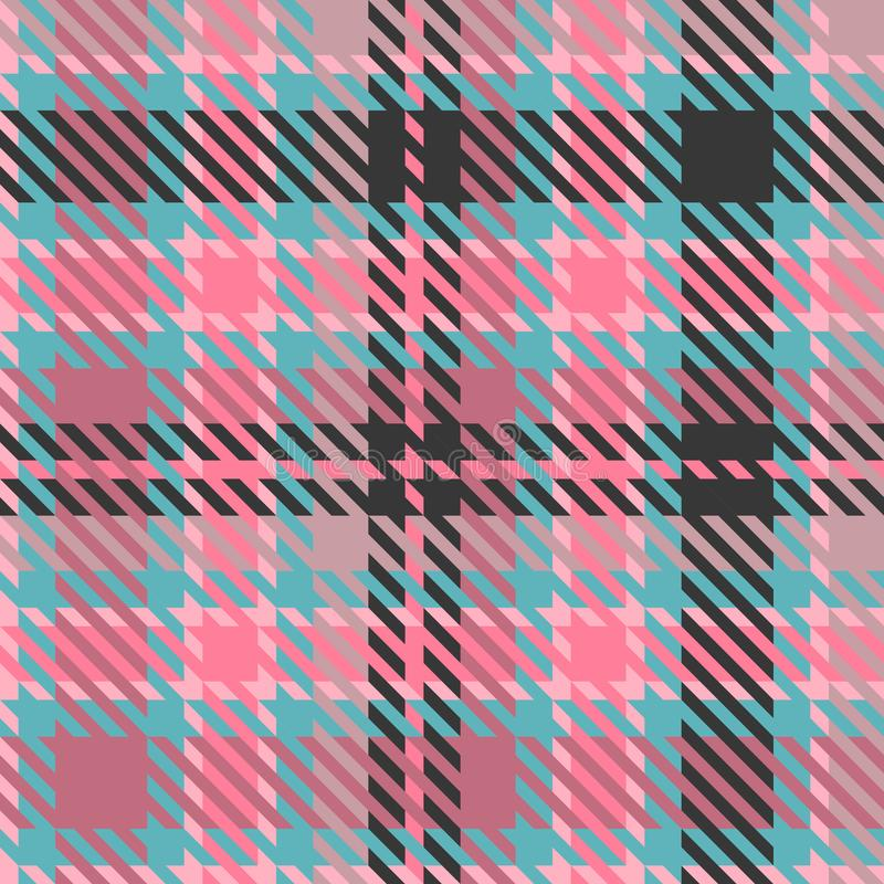 Tartan texture fabric royalty free illustration