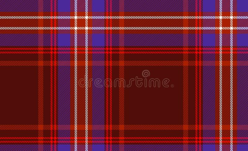 Tartan traditional checkered British fabric seamless pattern background. Illustration design stock image