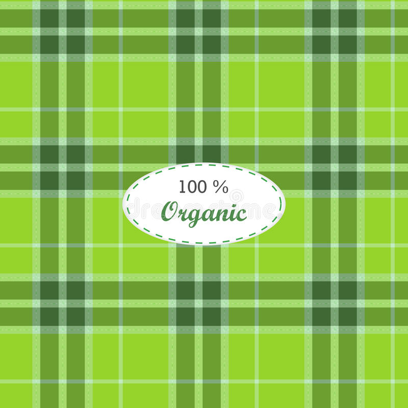 Tartan traditional checkered british fabric stock illustration