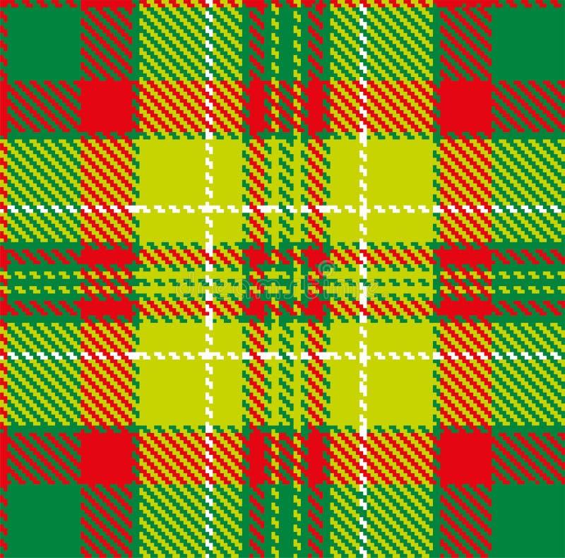 Tartan, wektoru wz?r w szkockiej kracie z powtarzalnym motywem royalty ilustracja