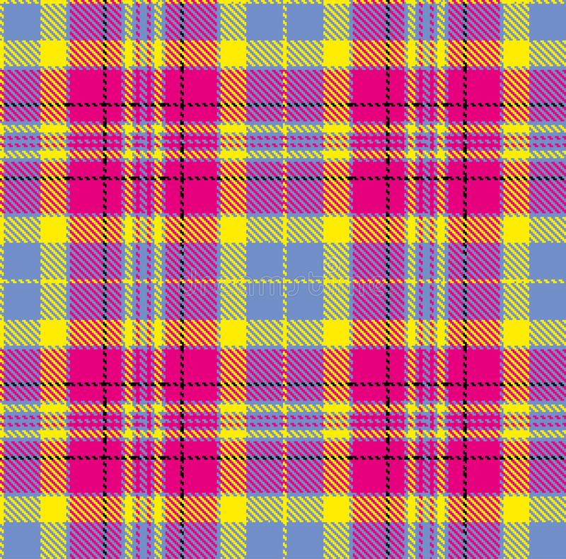 Tartan, wektoru wz?r w szkockiej kracie z powtarzalnym motywem ilustracja wektor