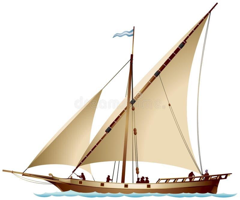Tartane varend schip stock illustratie