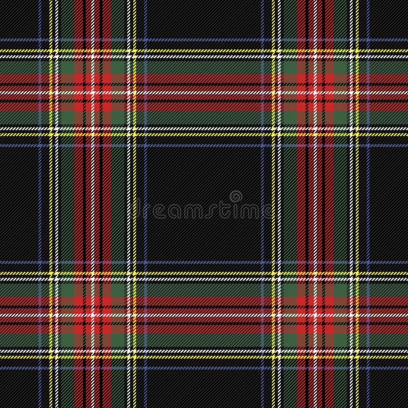 TartanStewart Royal pläd Skotsk bur vektor illustrationer