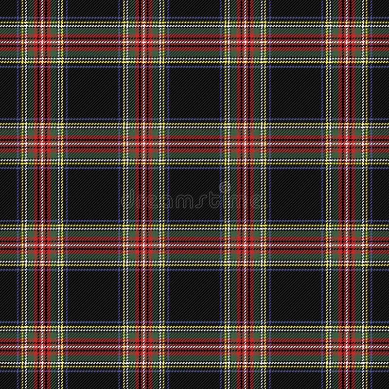 TartanStewart Royal pläd Skotsk bur royaltyfri illustrationer