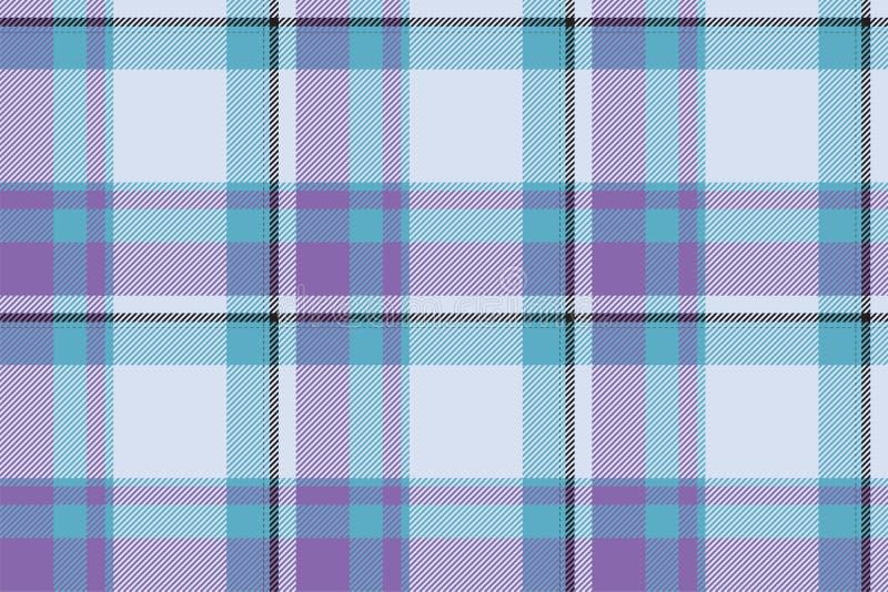 Tartanu Scotland szkockiej kraty wzoru bezszwowy wektor Retro tło tkanina Rocznika czeka koloru kwadrata geometryczna tekstura royalty ilustracja