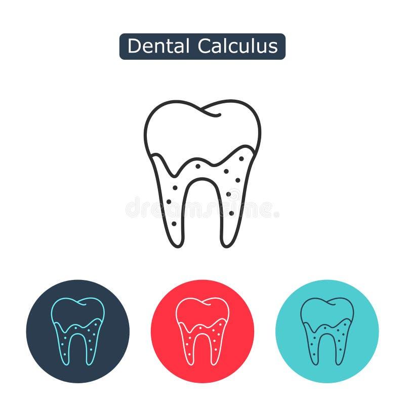Tartar or calculus teeth illustration vector icon. Dental calculus with bacteria image. Tartar or calculus teeth outline vector icon. Dental concept. Medicine vector illustration
