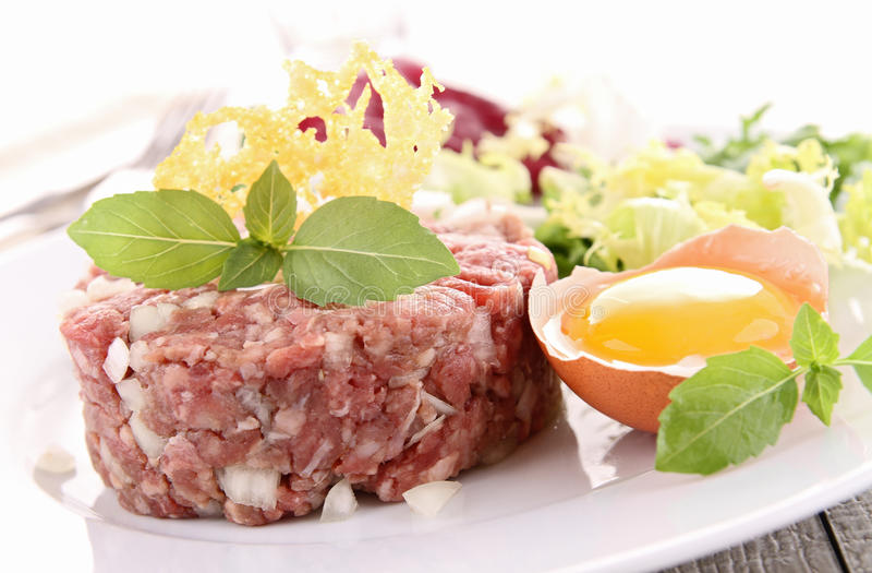 Tartare de bifteck photo stock