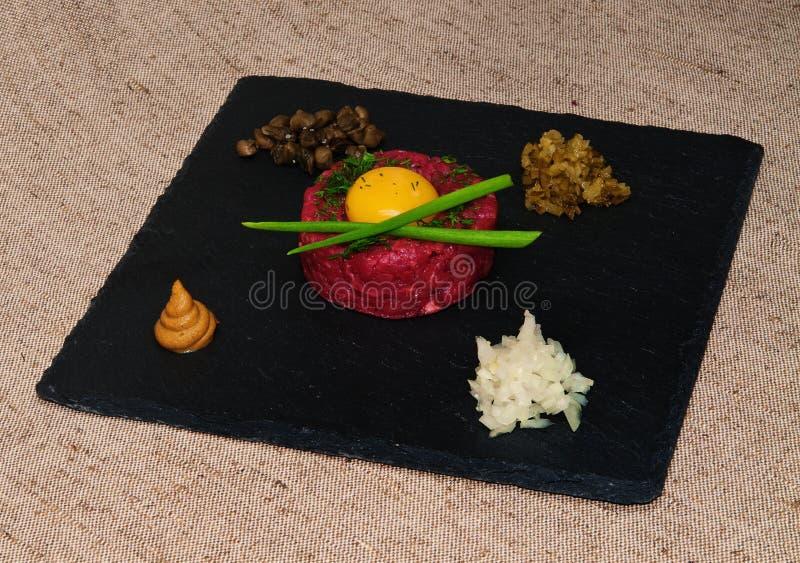 Tartare steak. royalty free stock photos